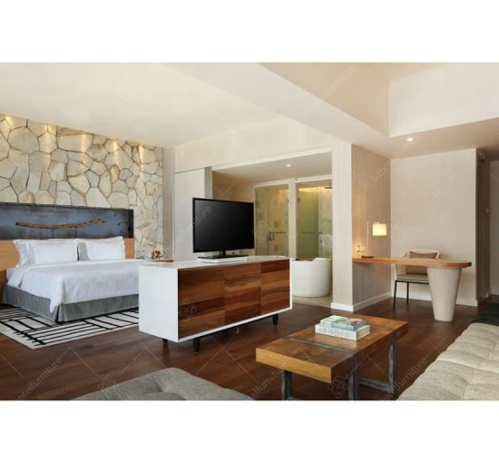 Fashionable Design Resort Hotel King Size Room Furniture Sets Commercial Furniture Sets pictures & photos