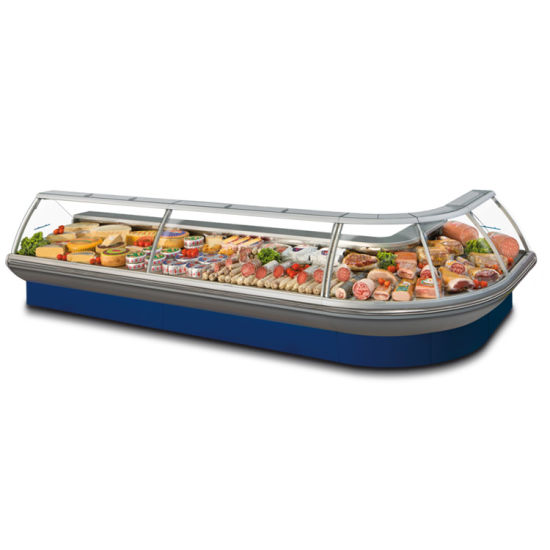 Top Open Fresh Meat Showcase Display Freezer for Meat