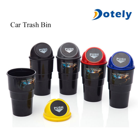 Universal Automotive Cup Holder Garbage Can Trash Bin