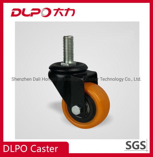 Light Duty Swivel Safety Dual Locking Polyvinyl Chloride No Noise Wheels Caster