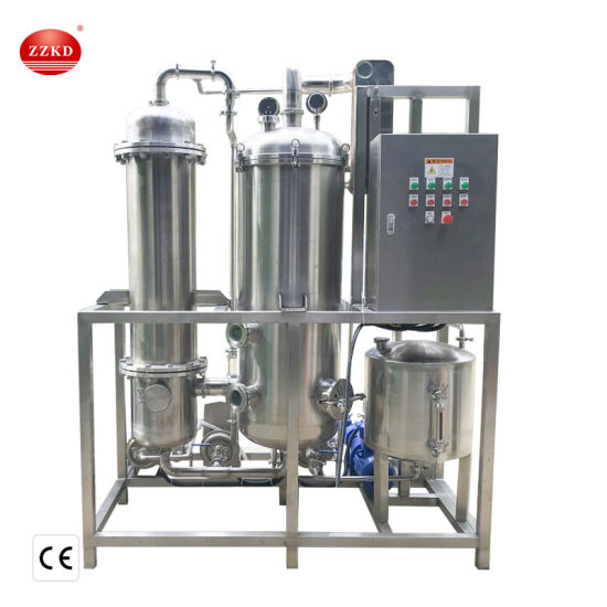 Stainless Steel Small Ethanol Triple Effect Falling Film Evaporator