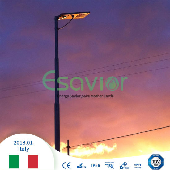 Integrated Solar Street Light All in One 40W/50W/60W/80W with MPPT Solar Charge Controllers/Iot Online Monitoring High Brightness 195lm/W for Solar Lighting