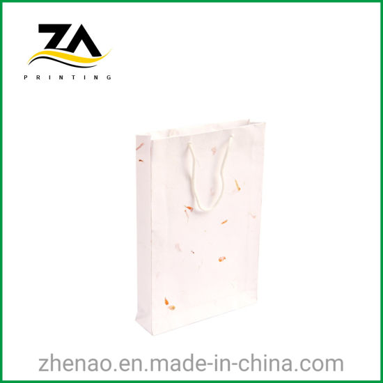 USA High Quality Custom Design Paper Bag with Cotton Handle