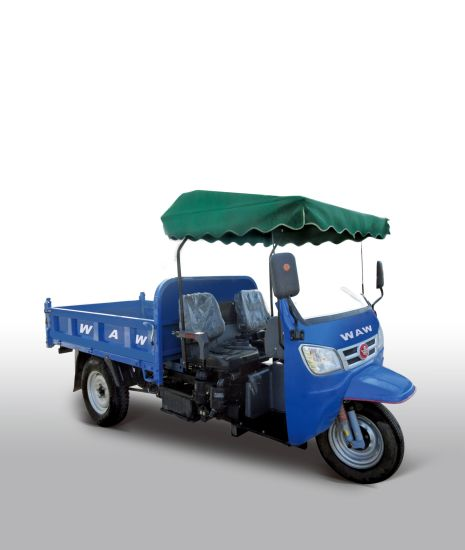 Waw Diesel Motorized Cargo Tricycle with Open Type
