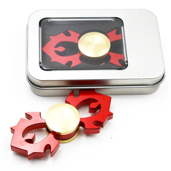 Aluminum Red Fire Design Metal Hand Spinners Latest Fidget Spinners pictures & photos