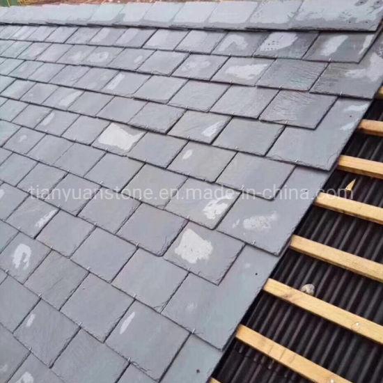 China Natural Roofing Slate Grey Black Slate Roof Tile China Roofing Slate Roofing Tile