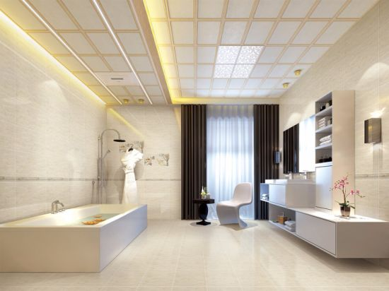 China Light Color Marble Look Bathroom Ceramic Wall And Floor Tile