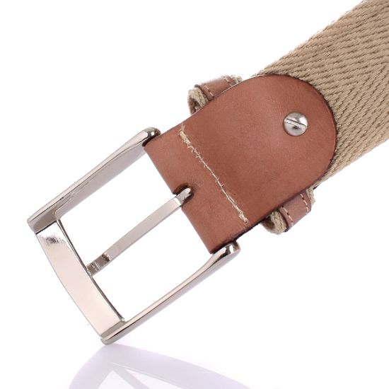 Oversew Heavy Cotton Webbing Cowhide Leather Belts (RS-13014) pictures & photos