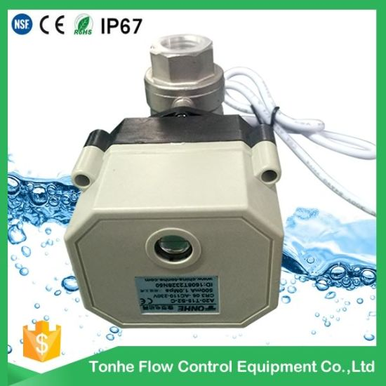 2 Way Ss304 Electric Motorized Water Ball Valve pictures & photos