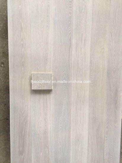 China 150 260mm Wide White Washed Oak Engineered Timber Flooring