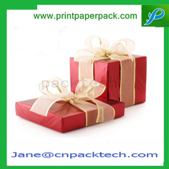 Fashion Design Square Package Paper Gift Packaging Box with Ribbon pictures & photos