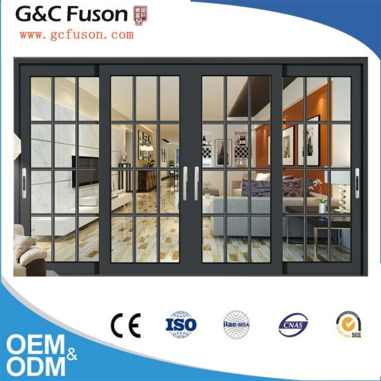 China 2 Or 3 Tracks Aluminum Exterior Sliding Door With Mosquito Net