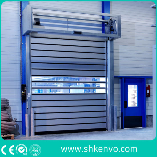 Industrial Automatic Spiral Aluminum Metal Thermal Insulated High Speed Performance Fast Acting Rapid Rise Overhead Roll up or Roller Shutter Door for Warehouse