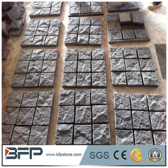 Granite Mesh Cobblestone Driveway Pavers for Patio