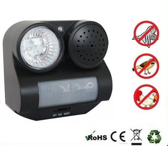Ultrasonic Sonic Infrared Sound Flashlight Birds Repeller pictures & photos