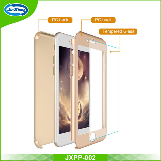 7f3546d7778 for iPhone 6 6plus 360 Degree Full Body Protective Case with Tempered Glass Screen  Protector