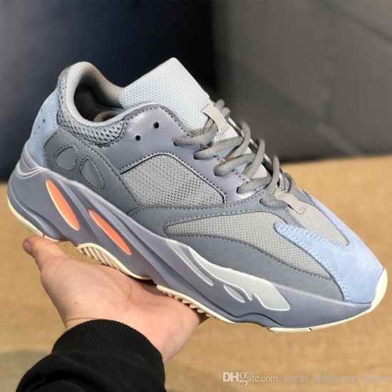 huge selection of ac491 b5d1b Wave Runner 700 V2 Static Inertia Og Solid Grey Mauve Mens Kanye West  Running Shoes Best Quality Women Fashion Sports Athletics Sneakers