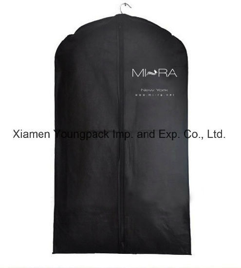 b793eac4ed Wholesale Custom Printed Mens Black TNT Clothes Dust Cover Promotional  Non-Woven Travel Suit Garment