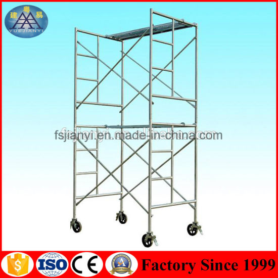 Pre-Galvanized 1219mm X 1930mm H Frame Type of Pipe Steel Scaffold Standard