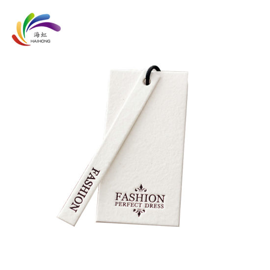 Factory Price Customized Logo Cardboard Paper Hang Tag for Garment / Jewelry Swing Tag / Bracelet Price Tag