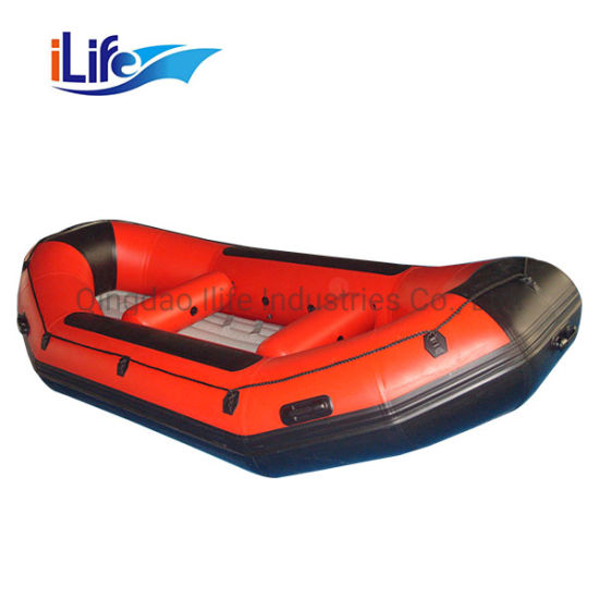 Ilife Inflatable Rafting Boat PVC/Hypalon White Water Raft Boat Fishing Whitewater River I-Beam Floor Self Bailing Paddle Il-P300 with OEM Service