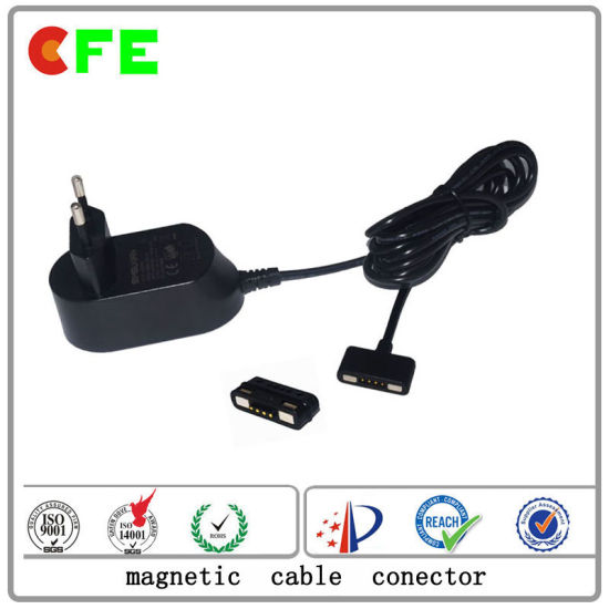 Magnetic Cable Connetcor Power AC Adaptor Plug with USB Charger