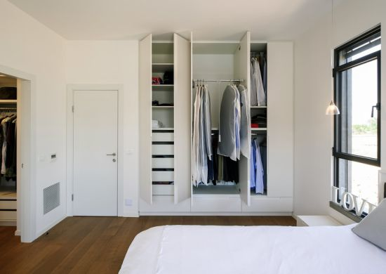 Affordable Price Matt Surface White Lacquer Hinge Door Wardrobe