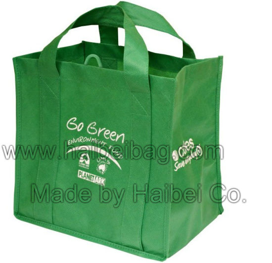 Green Printed PP Nonwoven Bag (HBNB-88)