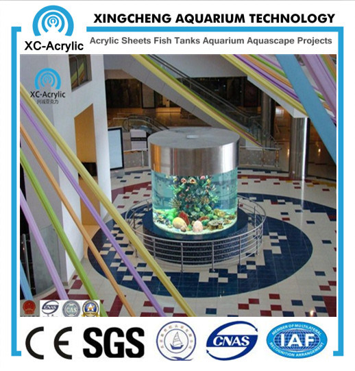 Round Acrylic Aquarium / Large Transparent Cast Round Acrylic Aquarium / Customized Acrylic Aquiarum for Oceanarium or Hotel / China Hot Sale Acrylic Aquarium pictures & photos