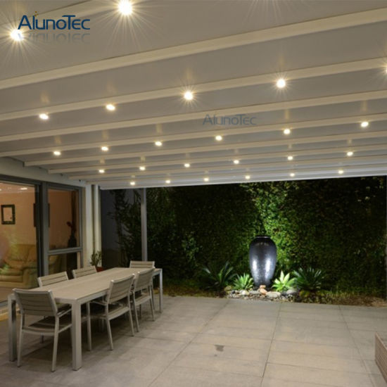 Pergola Awning System With Led Lights