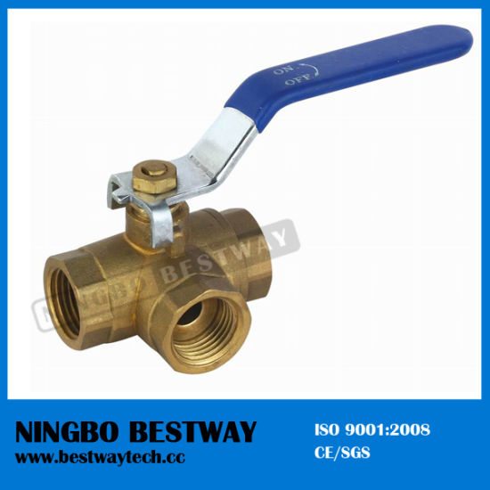 Brass Three Way Ball Valve (BW-B09) pictures & photos