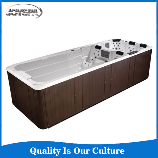 China Factory Supply Deluxe Outdoor Rectangular Swim Spa