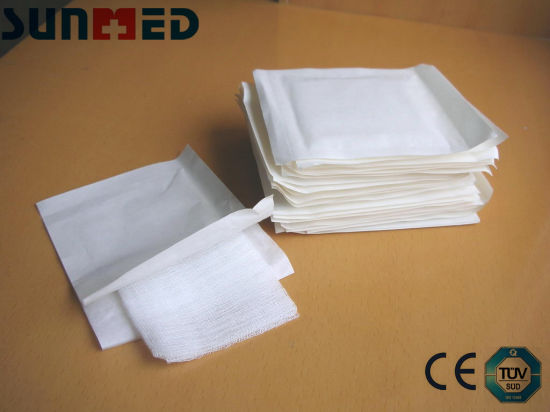 Sterile Woven Gauze Pad, Medical Compressed Gauze