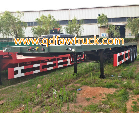 High quality 3 axles flatbed trailer pictures & photos