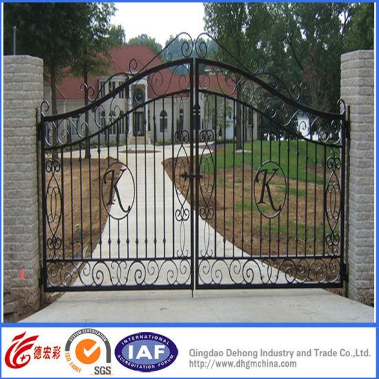 Decorative Cast Aluminum Garden Gate/Wrought Iron Courtyard Gate
