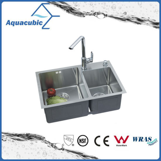 China Double Bowl Stainless Steel Kitchen Sink Without