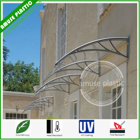 Elegant Easy Assembling Shade DIY Solid Polycarbonate Balcony Awning Canopy pictures & photos