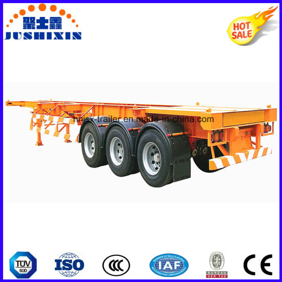 3 Axles 40 Feet Skeleton Container Semi Trailer (Fitting Container) pictures & photos
