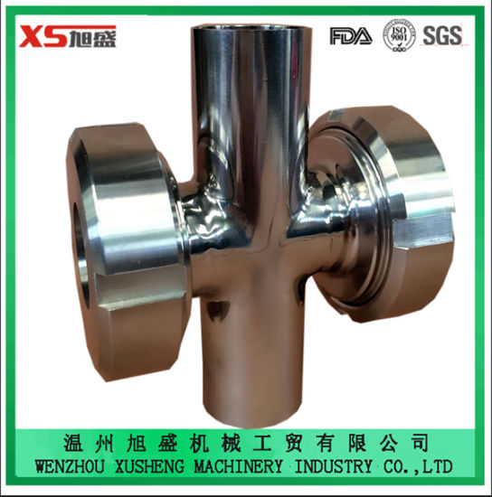 Stainless Steel Hygienic Sanitary Food Grade Cross Sight Glass for for Pipeline Industry pictures & photos