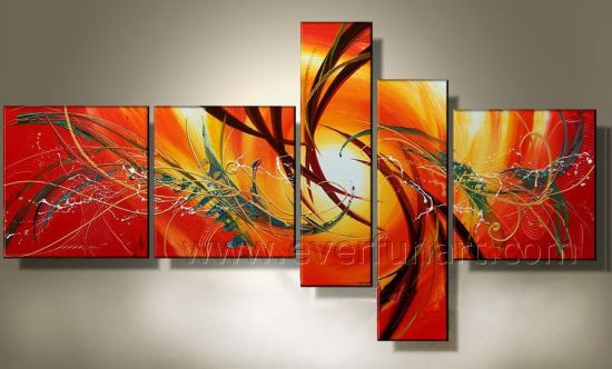 China Handmade Stretched Canvas Wall Art Abstract Oil Painting (XD5 ...