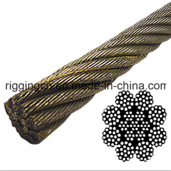 China 8X19 Bright Wire Rope in Eips Iwrc (Rotation Resistant ...