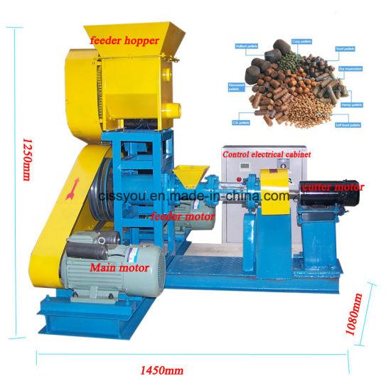 Animal Pet Food Fish Feed Pellet Extruder Processing Line