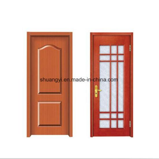 China good quality interior bathroom pvc mdf wooden door for Good quality interior doors