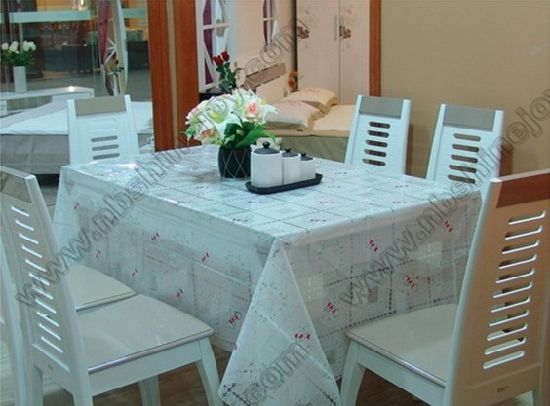Transparent Fancy Table Cloth PVC Table Cover pictures & photos