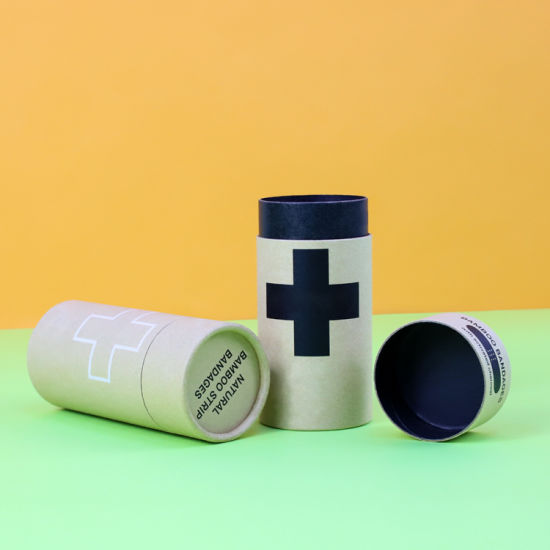 Firstsail Recyclable Customized Round Kraft Paper Tube Packaging Box for Medicine Pill