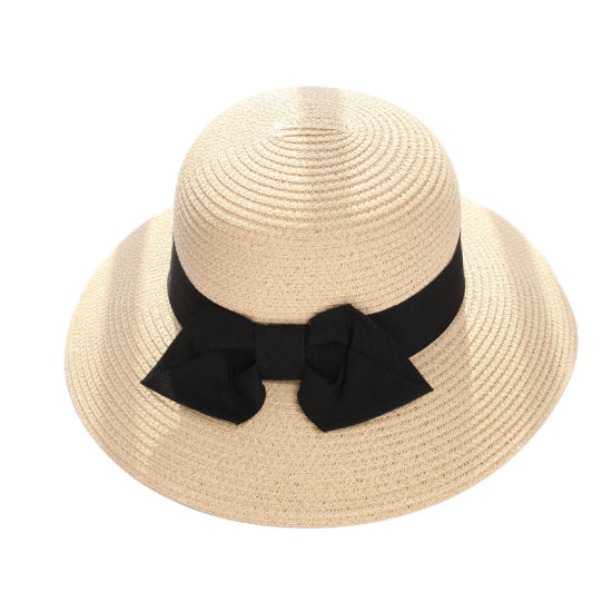 Stock Women Straw Hats Wide Brim Bigkont Bucket Hats