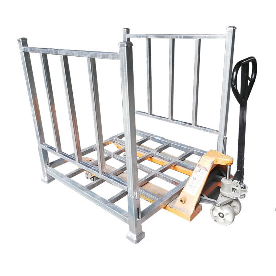Space Saving Q235 Portable Stacking Pallet Racks for Plastic Packaging Industry