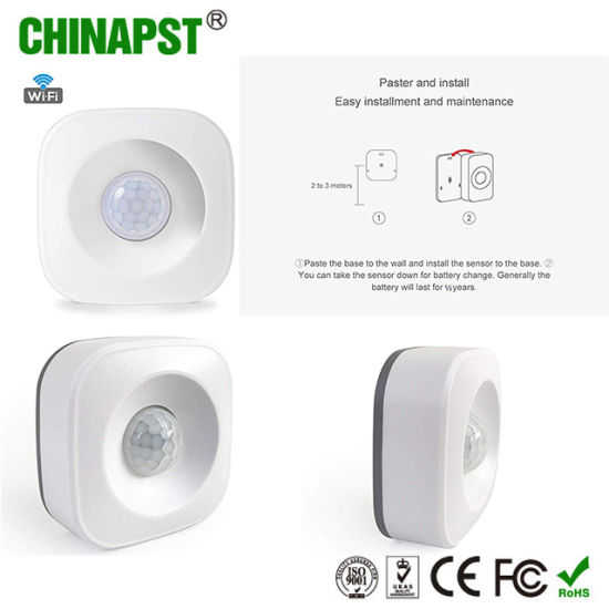 2019 Hot Seller Tuya Smart Life WiFi PIR Sensor with on/off Switch  (PST-WP001)