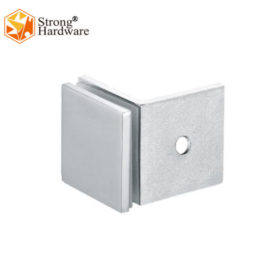 Wall to Glass SS304/Zinc Alloy/Brass Glass Door Single Side Shower Glass Clamp