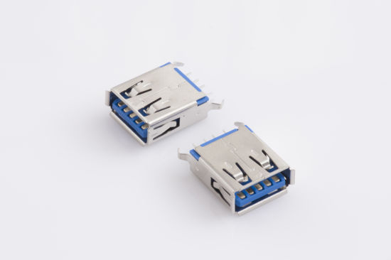 Stack High Speed USB3.0 Vertical Anle Connector pictures & photos